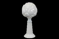 Carlin Large White Artichoke Finial