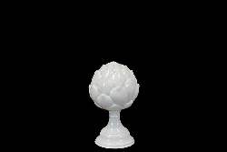 Liberty White Artichoke Finial On Stand
