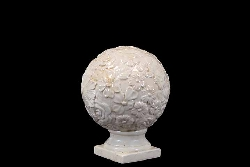 Bleckley White Floral Small Finial Globe