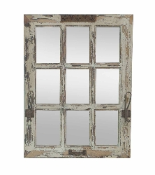 Hiram Wood & Mirror Wall Decor