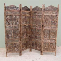 Acamas Carved Screen Sun & Moon, Wood