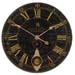 "Uttermost 06030 Bond Street 30"" Black Wall Clock"