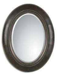 Uttermost 07011B Tivona Oval Copper Mirror