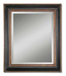 Uttermost 07023B Fabiano Black Wood Mirror