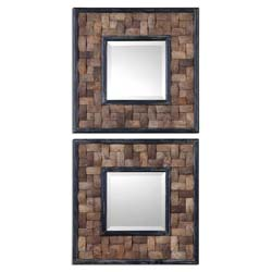 Uttermost 07062 Barros Squares S/2 Mirror