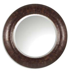 Uttermost 07515B Leonzio Leather Mirror