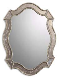 Uttermost 08026B Felicie Oval Gold Mirror