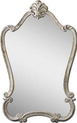 Uttermost 12833 Walton Hall Antique White Mirror
