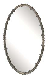 Uttermost 12844 Costano Silver Leaf Oval Mirror