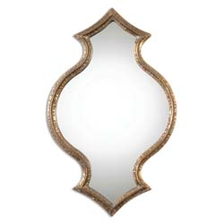 Uttermost 12912 Bagara Antiqued Gold Mirror