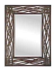 Uttermost 13707 Dorigrass Brown Metal Mirror