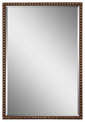 Uttermost 13749 Tempe Distressed Brown Mirror
