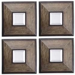 Uttermost 13817 Fendrel Squares Wood Mirror Set/4