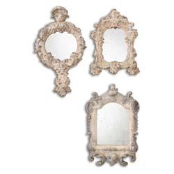 Uttermost 13882 Rustic Artifacts Reflection Mirrors, S/3