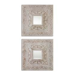 Uttermost 13919 Katell Metal Square Mirrors, S/2