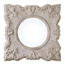 Uttermost 13921 Cautano Gray-Ivory Square Mirror