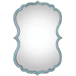 Uttermost 13925 Nicola Light Blue Mirror