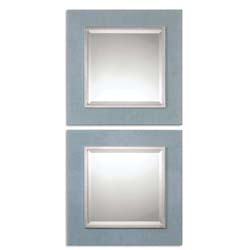 Uttermost 14498 Tory Denim Square Mirrors, S/2