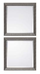 Uttermost 14608 Allia Silver Square Mirrors, S/2
