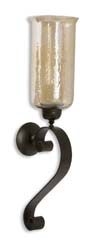 Uttermost 19150 Joselyn Bronze Candle Wall Sconce