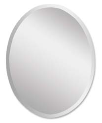 Uttermost 19580B Frameless Vanity Oval Mirror