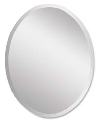 Uttermost 19590B Frameless Large Oval Mirror