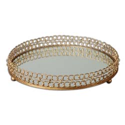 Uttermost 19807 Dipali Mirrored Tray