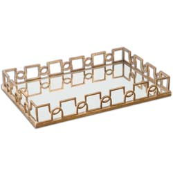 Uttermost 19912 Nicoline Mirrored Tray