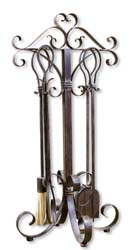 Uttermost 20338 Daymeion Metal Fireplace Tools, Set/5