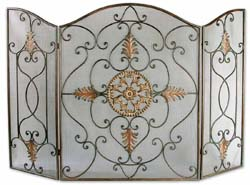 Uttermost 20508 Egan Wrought Iron Fireplace Screen