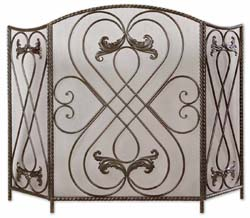 Uttermost 20960 Effie Metal Fireplace Screen