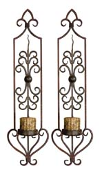 Uttermost 20987 Privas Metal Wall Sconces, Set/2