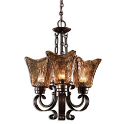 Uttermost 21008 Vetraio 3Lt Oil Rubbed Bronze Chandelier