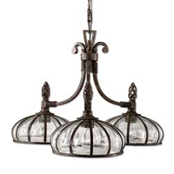 Uttermost 21046 Galeana 3 Light Iron Chandelier