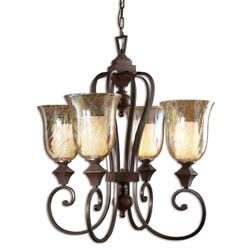 Uttermost 21050 Elba 4 Light Candle Chandelier