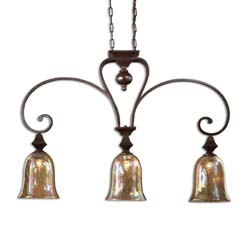 Uttermost 21051 Elba 4 Light Kitchen Island Light