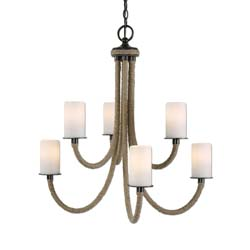 Uttermost 21254 Gironico 6 Light Rope Chandelier