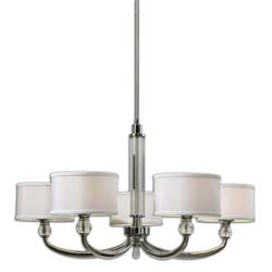 Uttermost 21260 Vanalen 5 Light Chrome Chandelier