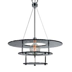 Uttermost Gyrus 1 Light Smoke Glass Chandelier