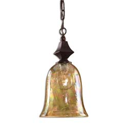 Uttermost 21812 Elba Crackle Glass Mini Pendant
