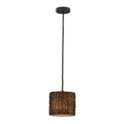 Uttermost 21832 Knotted Rattan Mini Drum Pendant