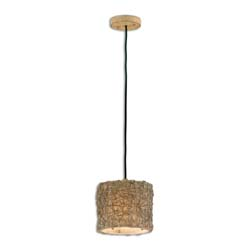 Uttermost 21837 Knotted Rattan Light Mini Drum Pendant
