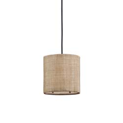 Uttermost 21934 Dafina 1 Light Burlap Mini Drum Pendant