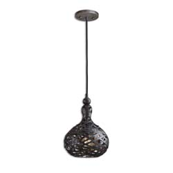 Uttermost 21975 Alita Industrial 1 Light Mini Pendant