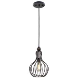 Uttermost 21979 Bourret 1 Light Pendant