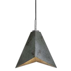 Uttermost 22015 Flint 1 Light Industrial Modern Pendant