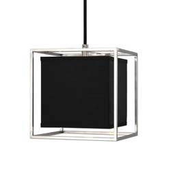 Uttermost Grafton1 Light Black Shade Pendant