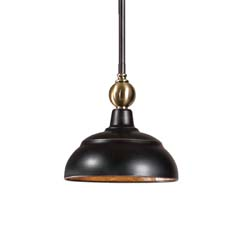 Uttermost Placuna 1 Light Mini Pacific Bronze Pendant