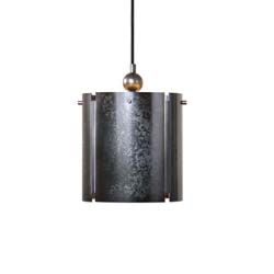 Uttermost Norton 1 Light Mini Galvanized Metal Pendant