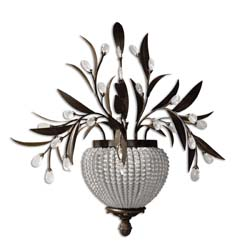 Uttermost 22401 Cristal De Lisbon 2 Light Wall Sconce